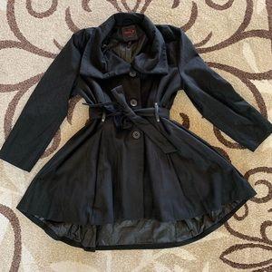Jackets & Blazers - Women's Plus Size Peacoat Wool A-Line jacket